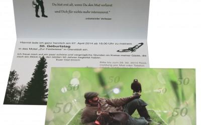Geburtstagseinladung Falkner und Jäger